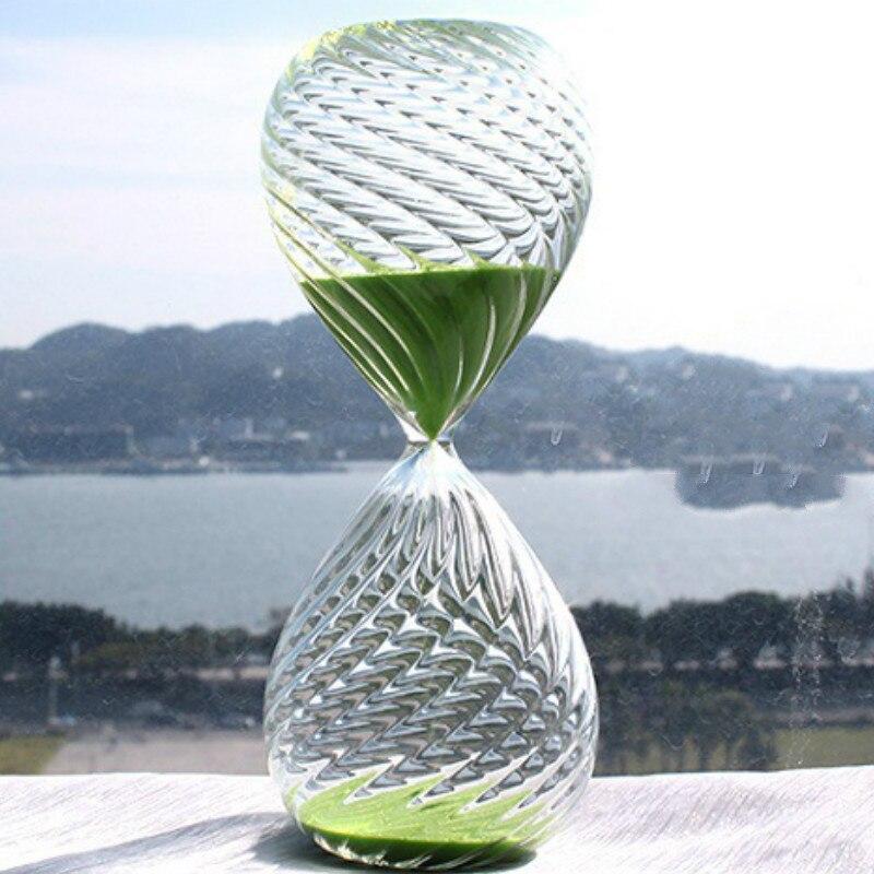 15 minutes minuterie exquis cristal couleur sergé sablier creative artisanat ornements Décor À La Maison vis