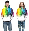 S--4XL Colorful Unisex Pullover Hoodies Rainbow 3D Print Graphic Sweatshirts Hip Hop Sweat Shirt Men Streetwear Sportswear Paint