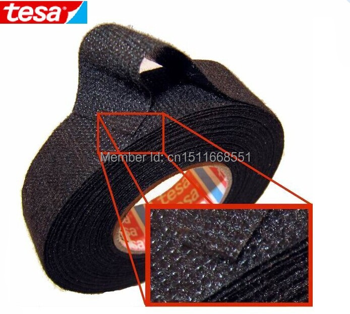 aliexpress com buy 2 rolls lot original tesa 51608 19mm 3 4 aliexpress com buy 2 rolls lot original tesa 51608 19mm 3 4 x25m adhesive cloth fabric tape cable looms wiring harness shipping from reliable fabric