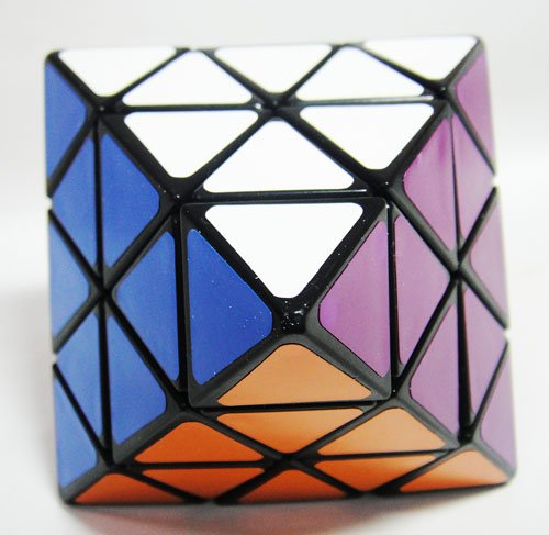 LeadingStar Face Turning Octahedron Speed Cube Black Magic Cube Puzzle zk 25