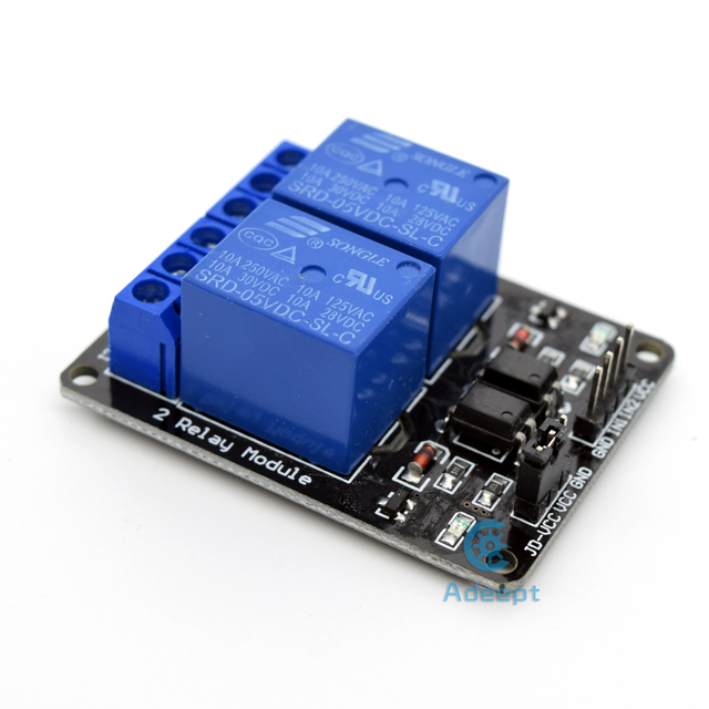 US $7 99 |Adeept New 5V 2 Channel Relay Board Module for Arduino Raspberry  Pi ARM AVR DSP PIC Freeshipping headphones diy diykit-in Home Automation
