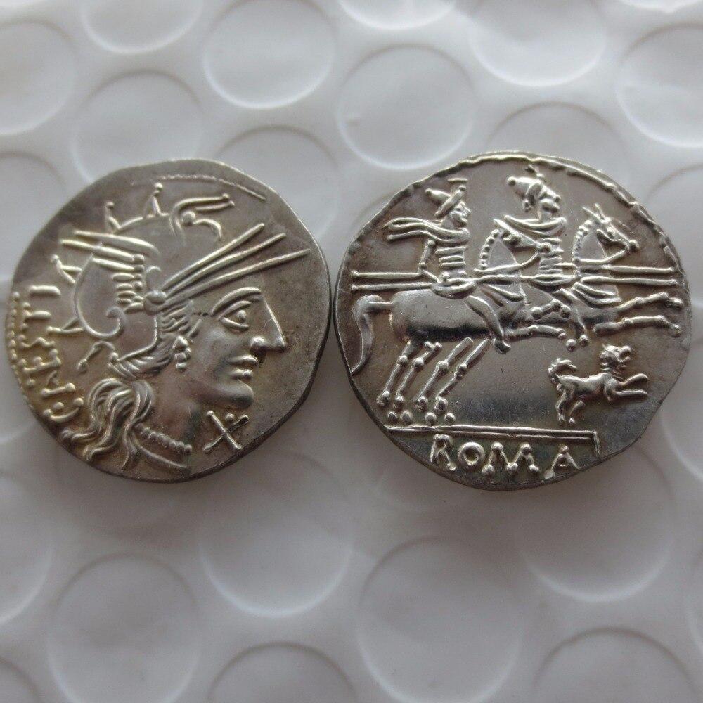 RM(24) Rome ancient Denarius -146 copy coin