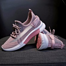 Lace Up Air Mesh Vulcanized Shoes New Plus Size Breathable Sneakers Wom