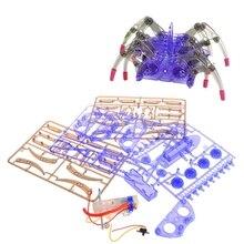 Electric Spider Robot Toy DIY Educational Assembles Model Handwork For Kids