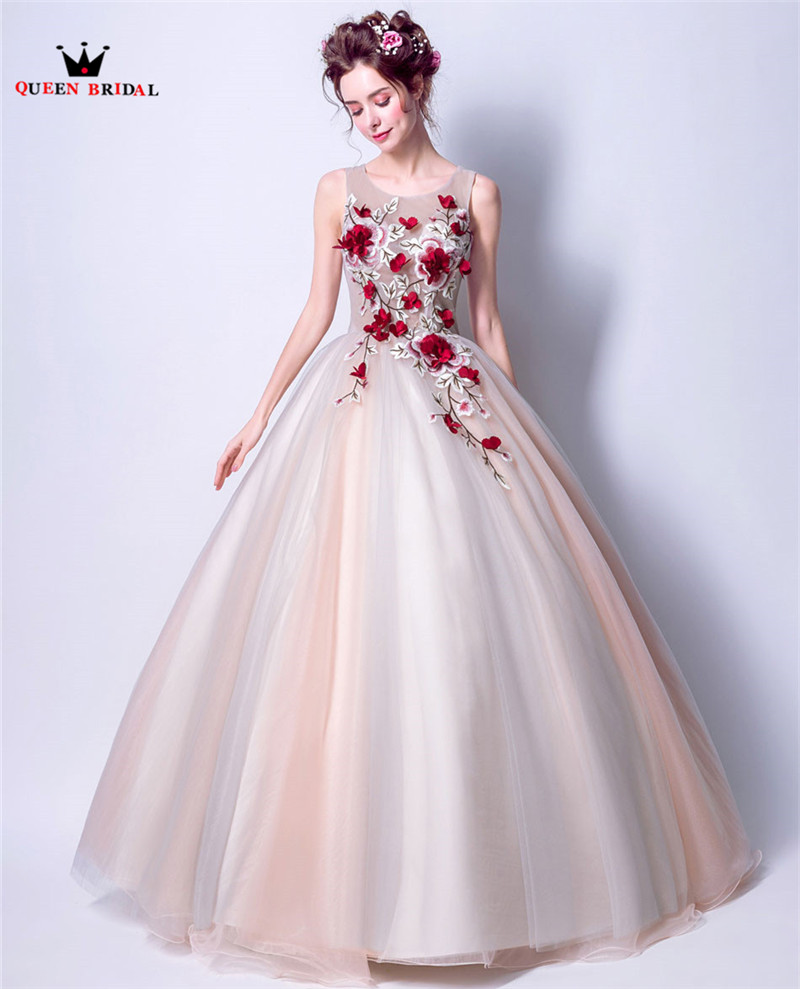 Королевские Свадебные вечерние платья, Пышное Бальное Платье, 3D Цветы, тюль, длинное женское вечернее платье, платья, новинка 2020, vestido de festa LS81 - 3