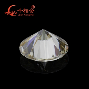 Image 4 - 5mm to 12mm  yellow color  Round Brilliant cut Sic material moissanite  loose stone by qianxianghui (vdieo is light yellow)
