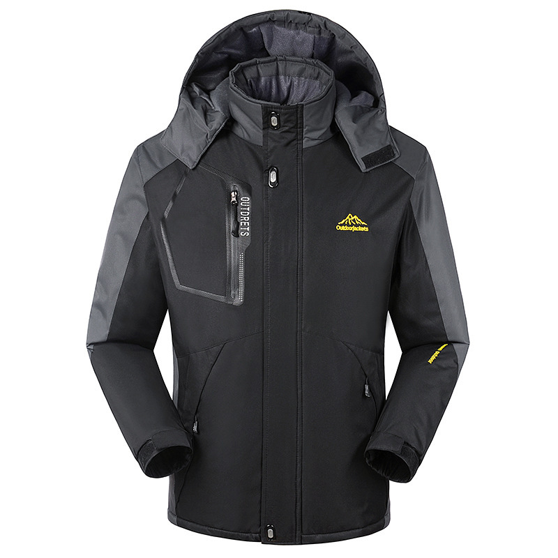 Fit -35 Plus Size L-6XL 7XL 8XL Max Chest 150CM Warm Padded Coat For men Winter Jacket With Hooded Waterproof Windproof men plus size 4xl 5xl 6xl 7xl 8xl 9xl winter pant sport fleece lined softshell warm outdoor climbing snow soft shell pant