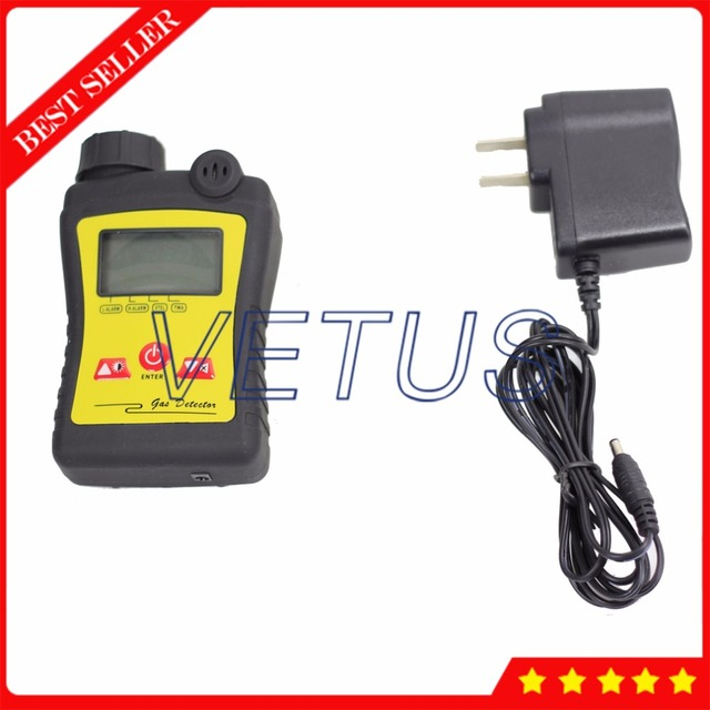 PGas-21-H2S 0~100ppm Portable Digital Hydrogen Gas Detector with H2S Gas Meter Tester Sound Light Alarm Monitor