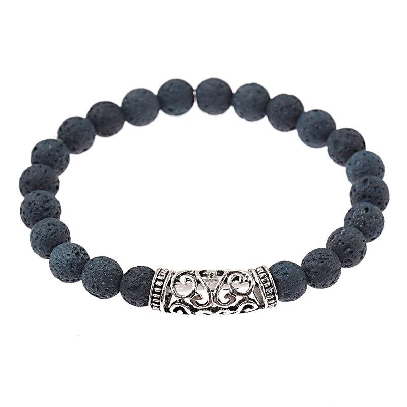 DUOVEI 2 Pcs/Set Natural Stone Beads Men's Dragon Bracelet Set Lava Stone Beaded Bracelets For Women Bileklik pulseras hombre