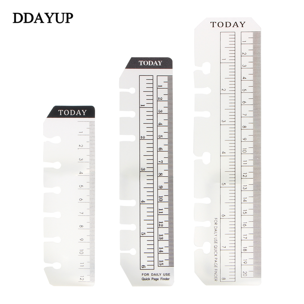 Tools New Straight Books Ruler Loose-leaf Today Rulers Frosted Transparent Mint Cute Kawaii Polka Dot