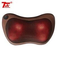 TJK New Massager Pillow Electric Infrared Heating Kneading Neck Shoulder Back Body Massage Pillow Car Home