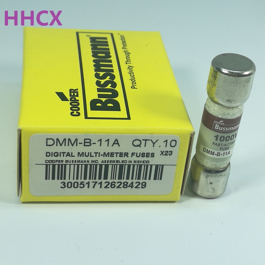 1PCS BUSS FAST-ACTING fuss DMM-B-11A 1000V 11A FUSE FOR FLUKE MULTIMETER Size:10x38mm image