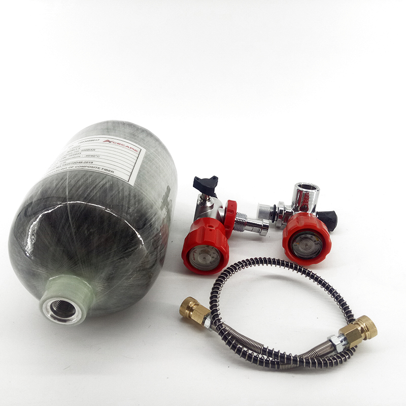 AC5020 Acecare Mini 2L Target Paintball Air Gun Tank Scuba HP 4500OSI Composite Carbon Fiber Tank