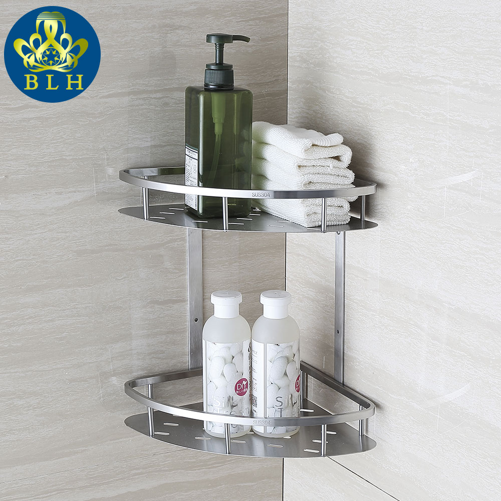 BLH 821 Double Tier Brushed Nickel Stainless Steel Wall Bathroom ...