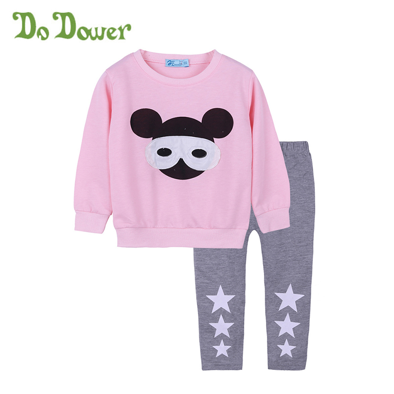 Fashion Baby Kids Girls Outfits Sets Cotton Cartoon Girl Long Sleeve Shirt And Pants For Girl Sets Children Clothing Suit