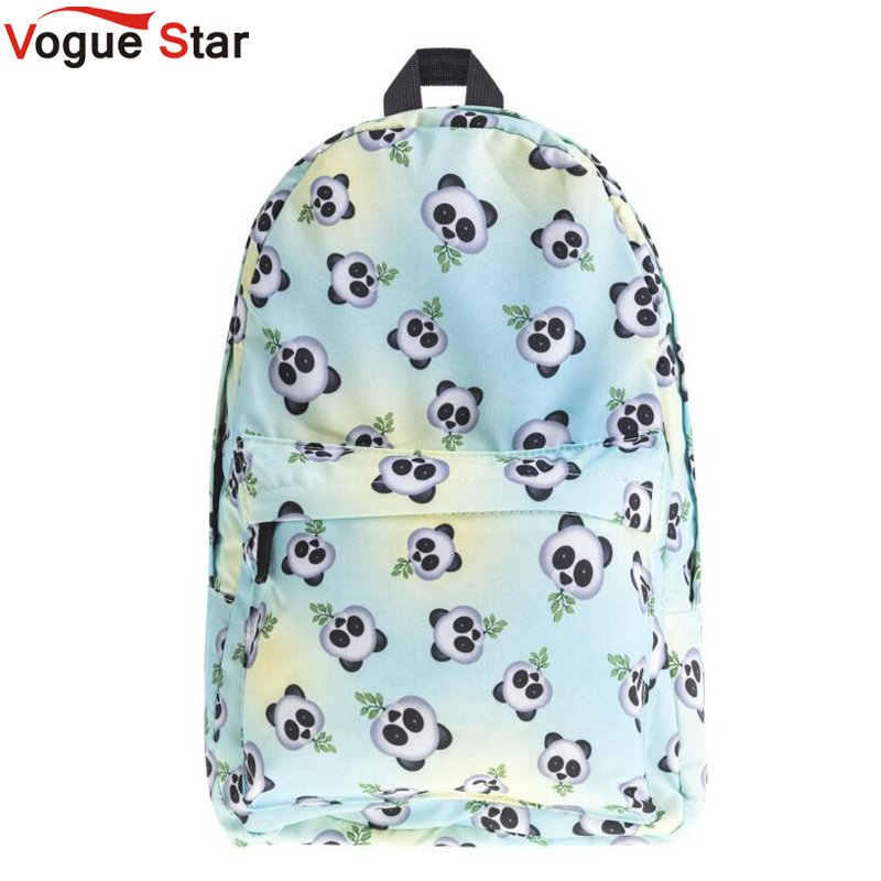 Eomji Panda Print Backpack Women Mochila Necessaire School Bags Bookbag for teenage girls sac a dos canvas backpack LB289 vintage cute owl backpack women cartoon school bags for teenage girls canvas women backpack brands design travel bag mochila sac
