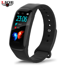LIGE New Smart Bracelet Men Sports Fitness Women Activity Heart Rate Tracker Ladies Waterproof Blood Pressure Wristband