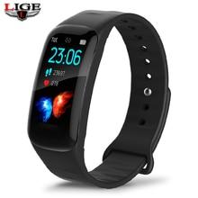LIGE New Smart Bracelet Men Sports Fitness Bracelet Women Activity Heart Rate Tracker Ladies Waterproof Blood Pressure Wristband