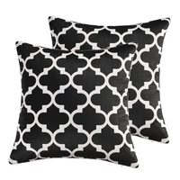 GGGGGO HOME Velvet Fabric Plum Geometric Print Sofa Cushion Cover Pillow Throw Cover Cushion Cojines For