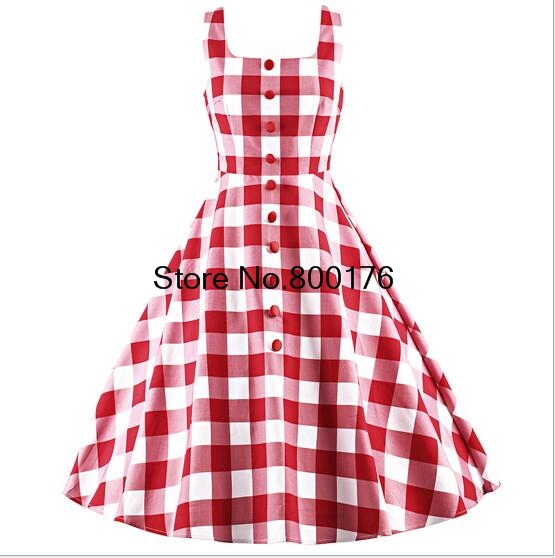 Free Shipping 1035 50s Rockabilly 1950s Pinup Dress Punk