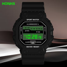 HONHX Women Men Watch Luxury Analog Outdoor Military Sport LED Waterproof Watch Relogio Digital Esportivo Sports Watches(China)