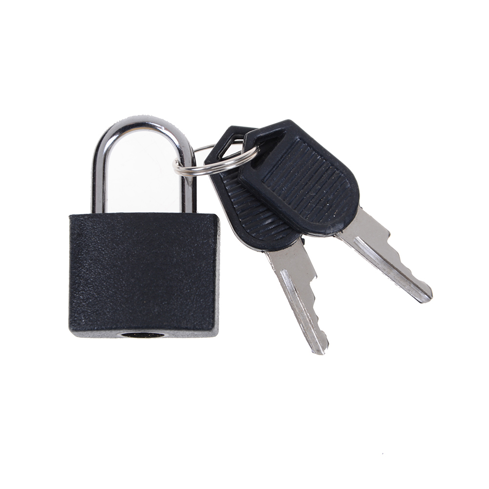 1Pcs Small Mini Strong Steel Padlock Travel Tiny Suitcase Lock with 2 Keys Замок