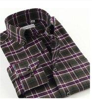 Plus Size XS 5XL 6XL New 2014 100 Cotton Long Sleeve Casual Plaid Men Shirt