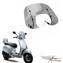 Smoke Motorcycle Scooter Bolt-On Wind Deflector Windshield Protector Windscreen For Vespa SPRINT 150 150cc Flyscreen Fly Screen