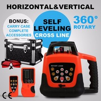 Lowest price High QNew Automatic Electronic Self Leveling Rotary Rotating Red Laser Level 500M 110v/220V|Power Tool Accessories|Tools -