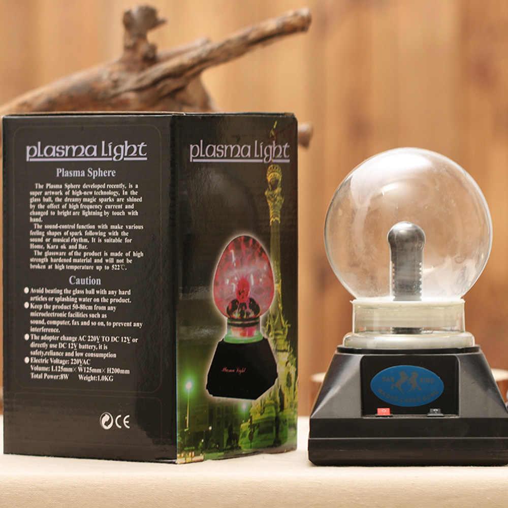Магический хрустальный светильник плазменный шар Lightning креативный Магический кристалл световая Сфера 4 дюймов странная Магия кристаллический глобус Прямая доставка
