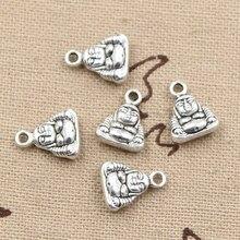 30 pçs encantos buda arhat tathagata 12x10x4mm bronze antigo prata cor pingentes diy fazendo descobertas jóias tibetanas artesanais