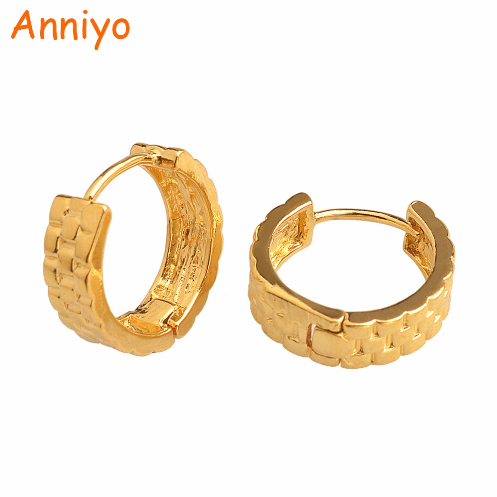 Anniyo Small Stud Earrings for Kids/Girls/Baby Gold Color Jewelry Gifts Wholesale Prices #007316