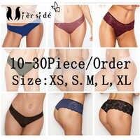 Mierside aleatório 10-30 peças/pacote qualquer estilo diferente meninas cueca calcinha sexy t-pants e cuecas xs/s/m/l/xl