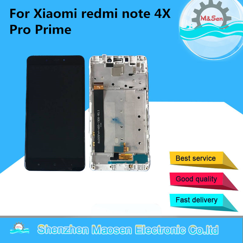 Original M&Sen For Xiaomi <font><b>Redmi</b></font> <font><b>Note</b></font> <font><b>4</b></font> <font><b>Note</b></font> 4X MediaTek MTK Helio X20 4GB 64GB LCD <font><b>Screen</b></font> Display+Touch Panel Digitizer <font><b>Frame</b></font> image