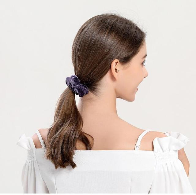 isnice women's winter velvet hair Scrunchies Hair Tie Hair Accessories Ponytail Holder Hair scrunchy Hot Sale ornament 2