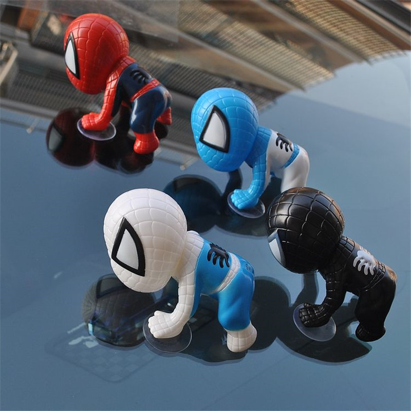 6 colors Spiderman Doll Toy Climbing Window Sucker for Spider-Man Action Figures Car Home Interior Decoration Spider Man(China)