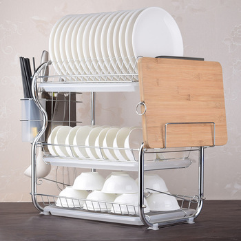 складная сушилка для посуды   2/3 ярусов кухонная полка сушилка для посуды корзина с покрытием железный кухонный нож сушилка для посуды сушилка Органайзер