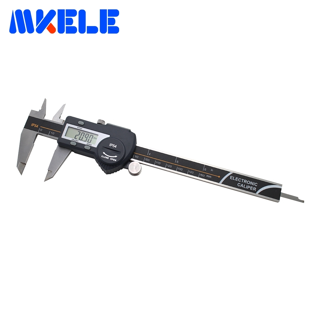 0-150mm IP54 Waterproof Digital Vernier Caliper Stainless Steel Electronic Digital Caliper High-Accuracy Measurement Tools flexsteel stainless steel shrock proof precision 0 6inch 150mm dial caliper vernier capliper accuracy 0 01mm
