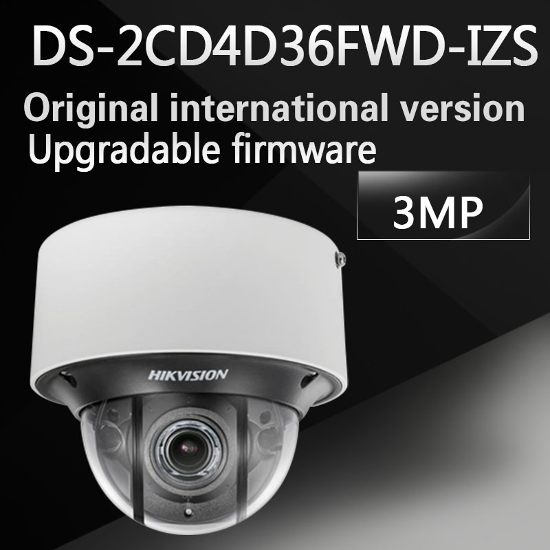 Free shipping DS-2CD4D36FWD-IZS English version 3 MP Low Light Smart Dome Camera 6 behavior analyses and 1 exception detection