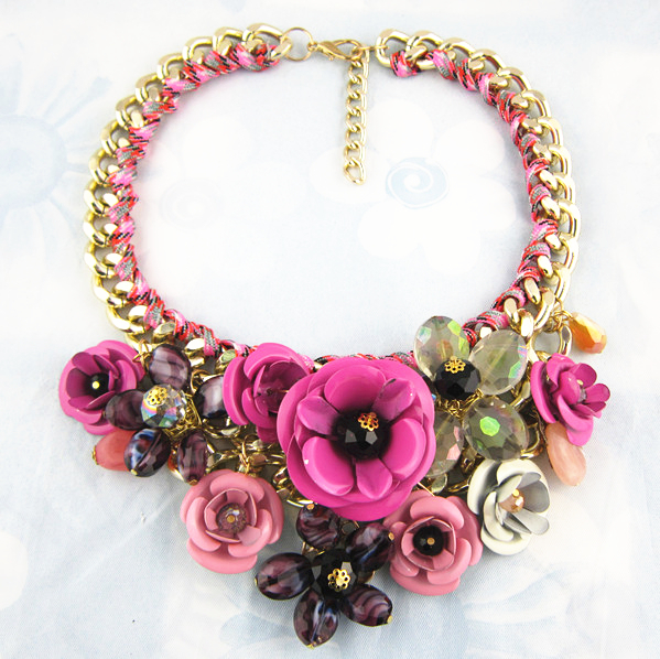 Chunky Brand Flower Necklaces Pendants For Women Designer Statement Necklace Fashion Luxury