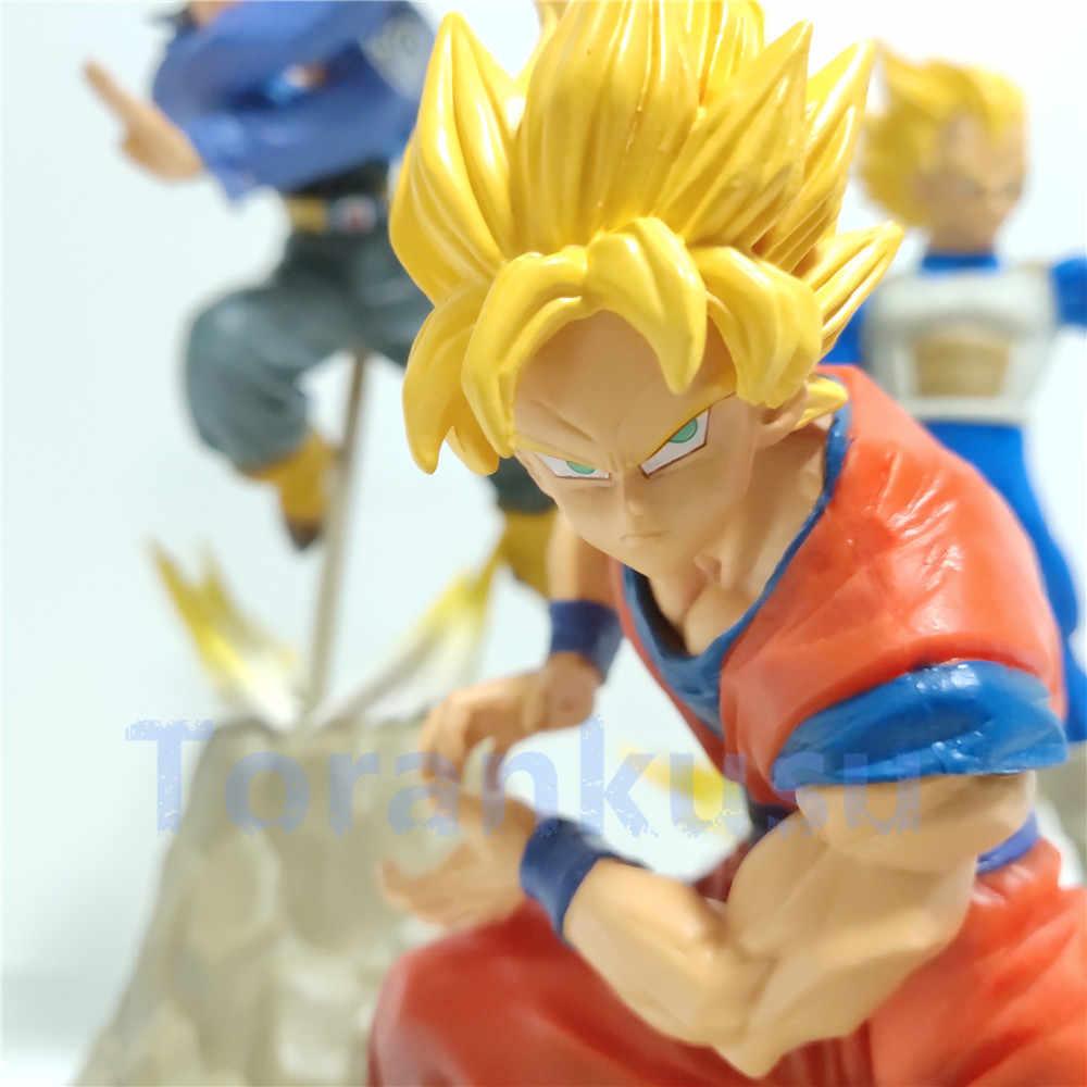 Dragon ball z super saiyan goku vegeta troncos apf led figura de ação brinquedos dragonball super anime son goku vegeta estatueta dbz