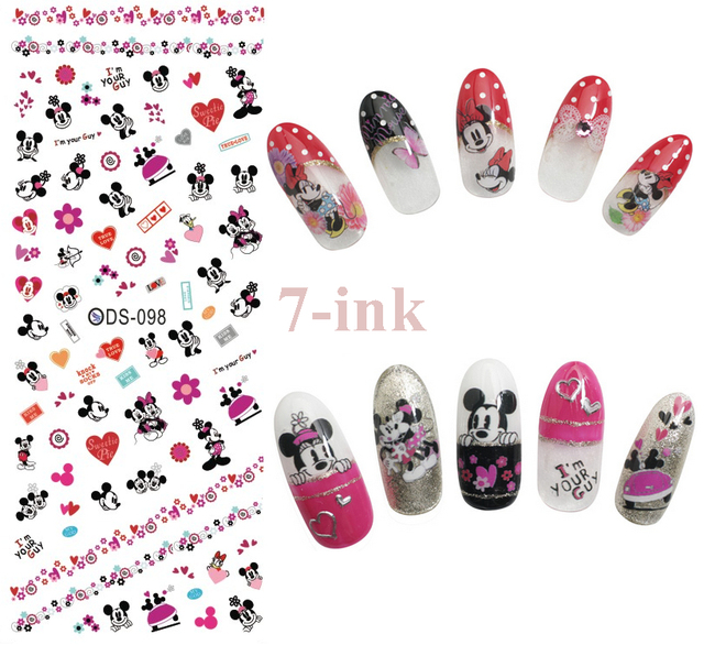 Nagels Art Sticker Diy Designer Mickey Mouse Hart Nail Wraps Sticker