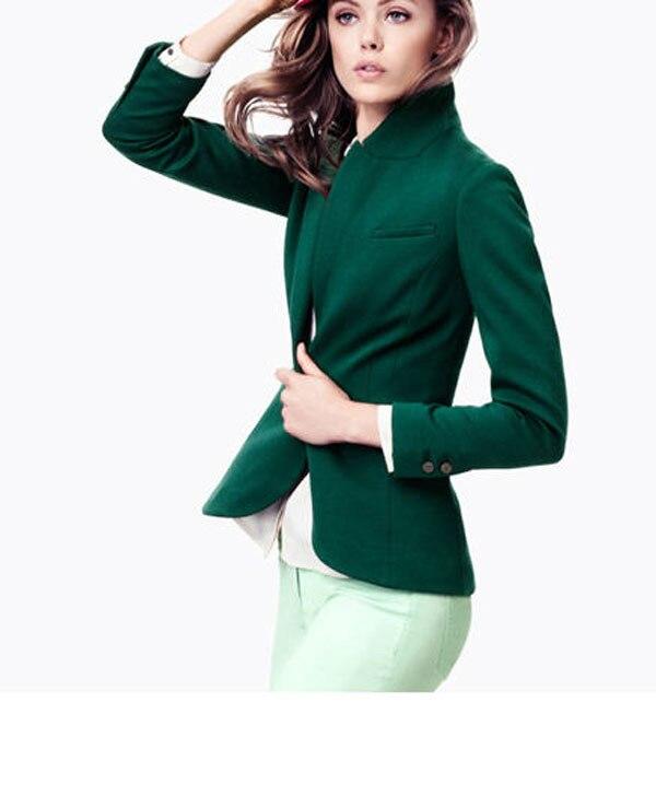 British Dark Green Elastic Slim Back Slit Designer Casual Suit ...
