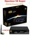 100% Genuíno V8 Super DVB-S2 Receptor de Satélite Digital 1080 P Full HD Suporte 3G IPTV APLICATIVO de Rede + 1 PC USB WIFI