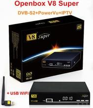 100% Genuino V8 Súper DVB-S2 Receptor de Satélite Digital 1080 P Full HD de la Ayuda 3G IPTV Red APP + 1 UNID USB WIFI