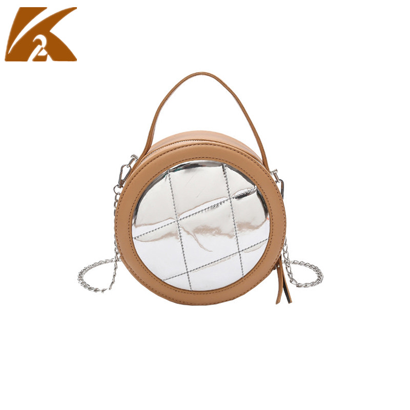 KVKY Hand Bag Woman 2018 Hot Sale Small Cricle Crossbody Bags Women Leather Handbags Round Shoulder Bag Messenger Bags Yellow