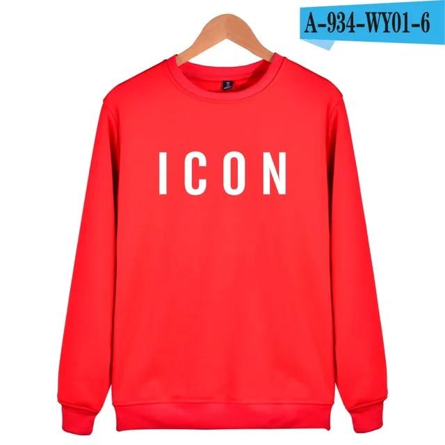 2019 Hot Sale Fashion Brand Icon Hoodies Sweatshirts Mens Funny Casual Clothes Print Icon Pattern Hip Hop capless Sweatshirt 3xl