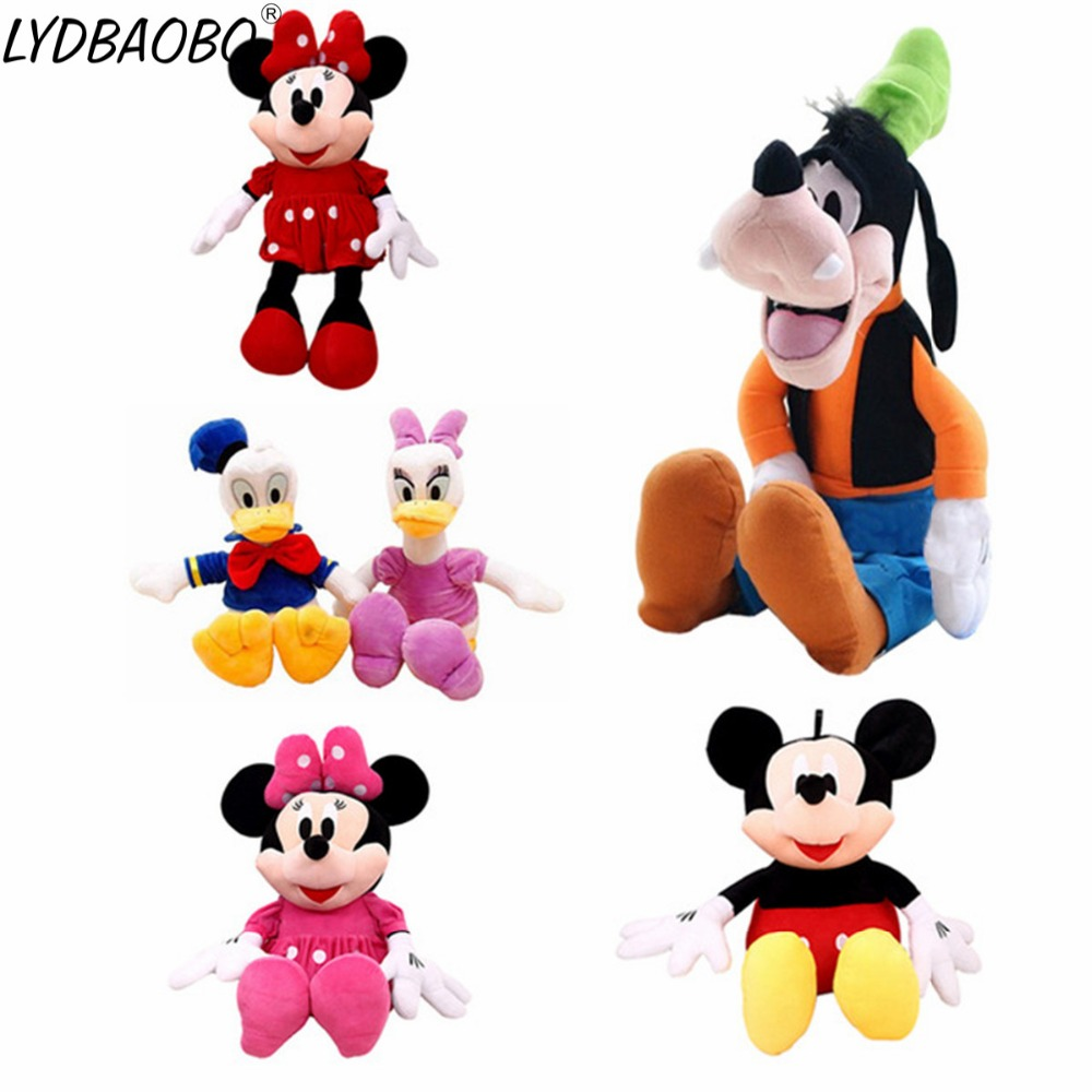 30CM Cartoon Animal Plush Cartoon Mickey&Minnie&Goofy&Pluto&Donald Duck Stuffed Soft Animal Toy Kid Play Doll Baby Birthday Gift