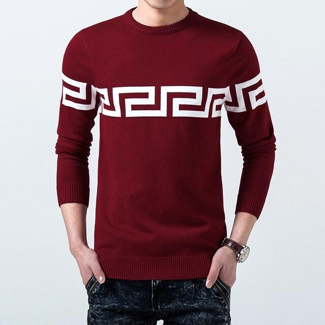 2016 Стильный мужчины осень качество slim fit color matching вязание свитера/Мужчины зима теплая отдых Набор глава вязать рубашка