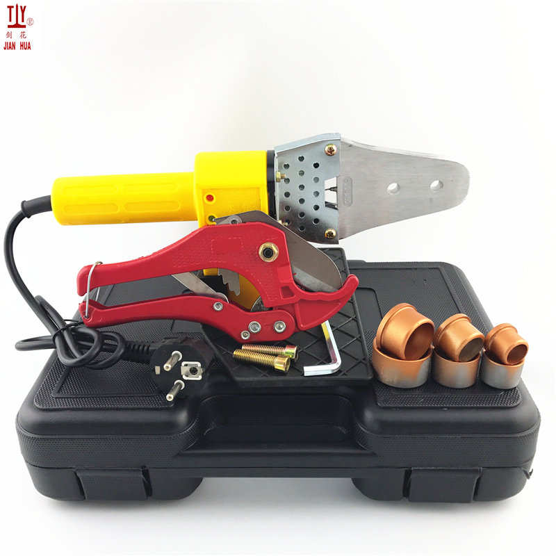 JIANHUA New 1 Set 220V 600W Automatic Heating Plastic Pipes Tube Welding Machine PPR PE PP Pipe Welding